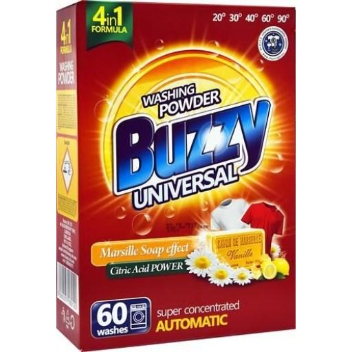 Buzzy 60x universāls pulveris ar marseļas ziepēm 3,3kg