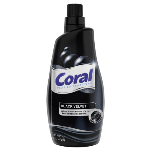 Coral black gel 1.5L 20x šķidrais veļas pulveris