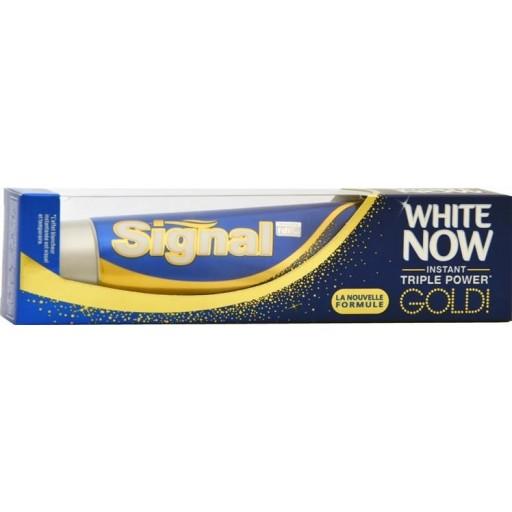 Signal 75ml zobu pasta White Now Gold