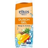 Elkos body dusch gel mango & ananas 0.3L